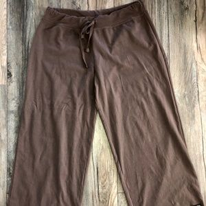 Athleta Relaxed Fit Crops-Size Small-Brown